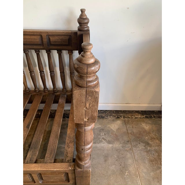 Wood Early 20th Century European Wood Daybed Frame For Sale - Image 7 of 8