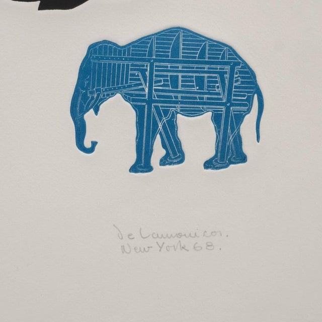"""""""The Dream"""" lithograph printed in colors, 1968, hand signed by the artist eligible signature, titled, dated and numbered..."""