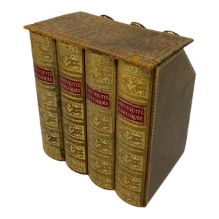 Collectible Faux Books With Three Hidden Flasks For Sale