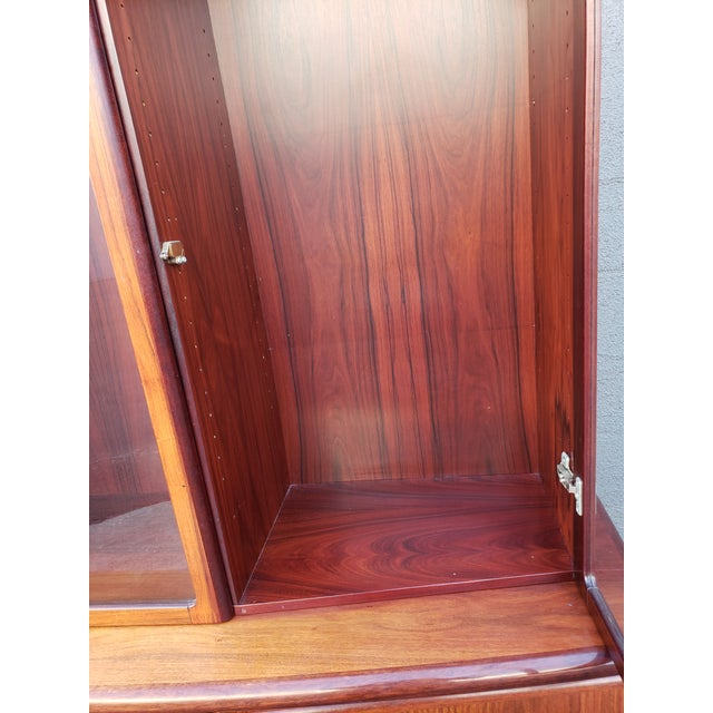Mid 20th Century Mid 20th Century Skovby Rasmus Danish Rosewood Display Cabinet For Sale - Image 5 of 6
