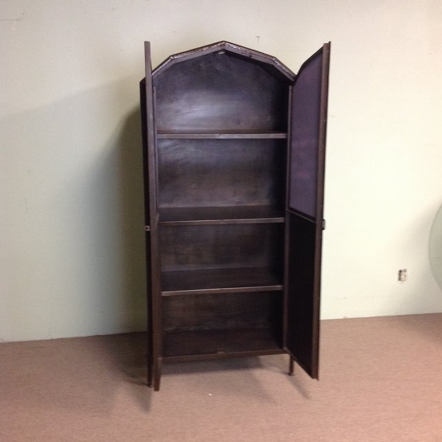 Vintage Industrial Metal Armoire Cabinet | Chairish