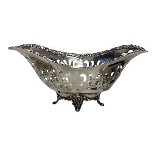 Tiffany Sterling Silver Boat Shaped Dish For Sale