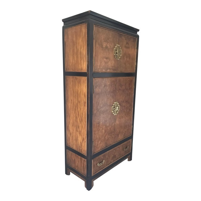 Century Furniture Company Midcentury Mod Asian Style Cabinet Wardrobe Dresser For Sale