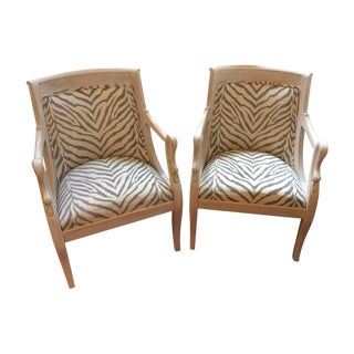 Pair of Empire Style Antique Swan Armchairs For Sale