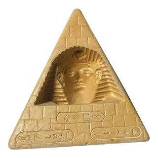 Vintage Egyptian Pyramid Lamp Hieroglyphic Khufu Bust