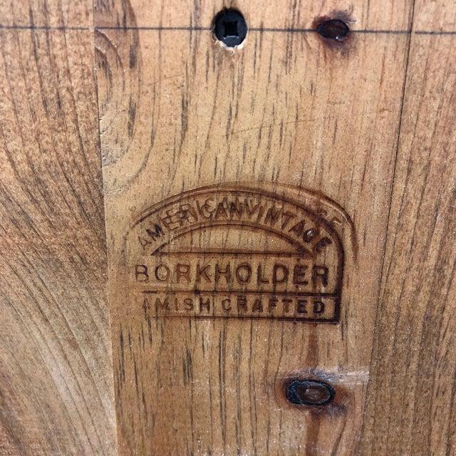 Borkholder Vintage Amish Crafted Sideboard + Hutch For Sale - Image 9 of 10