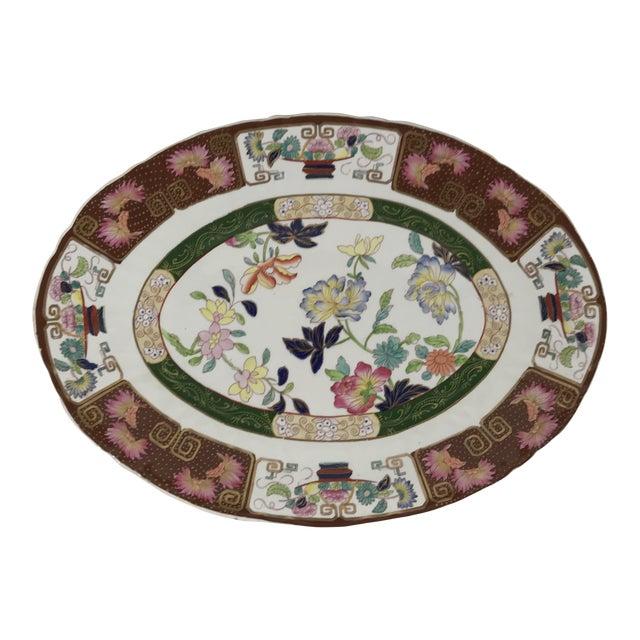 Ashworth Real Inronstone China Imari Oval Platter For Sale