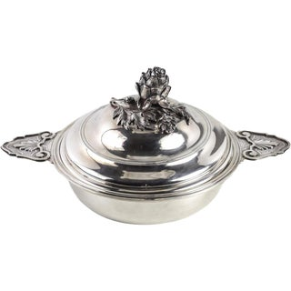 Puiforcat Paris French Sterling Silver Ecuelle Covered Serving Dish