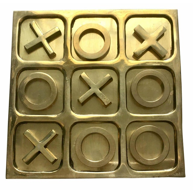 1970's Brass Tic Tac Toe Game - 11 Pieces For Sale - Image 4 of 5