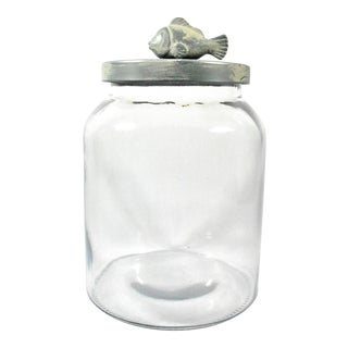Fish Lid Glass Apothecary Jar