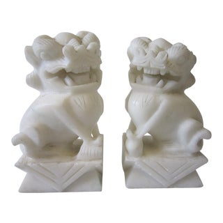Foo Dog Marble Figures - a Pair