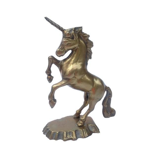 Vintage Brass Unicorn Figurine - Image 1 of 3
