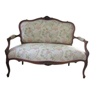 French Louis XV Style Settee Love Seat