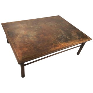 Philip and Kelvin LaVerne 'Classical' Motif Acid-Etched Bronze Coffee Table For Sale