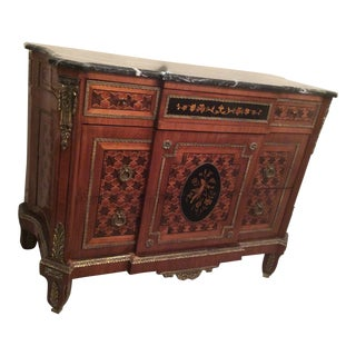Vintage Marquetry Antique Sideboard For Sale