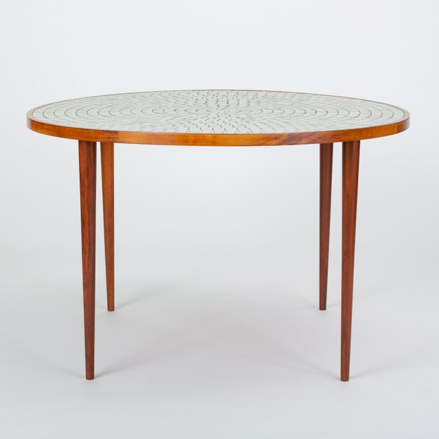 Tile-Top Walnut Dining Table by Gordon & Jane Martz for Marshall Studios For Sale - Image 13 of 13