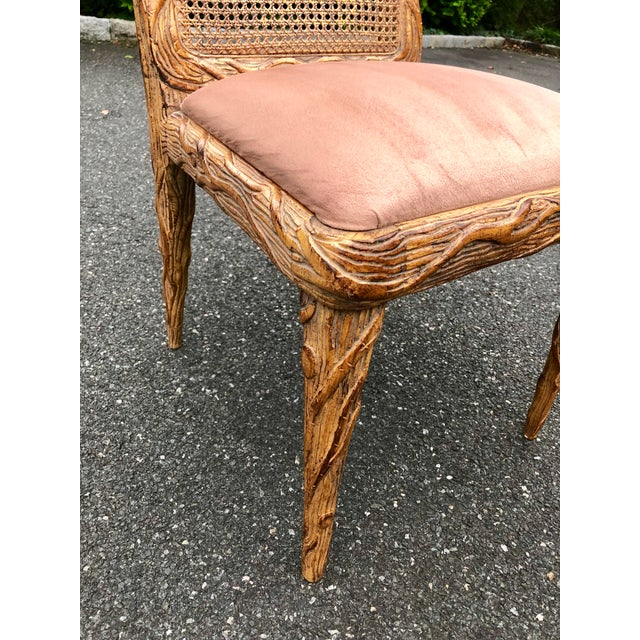 Faux Bois Dining Chairs - Set of 6 For Sale - Image 10 of 13