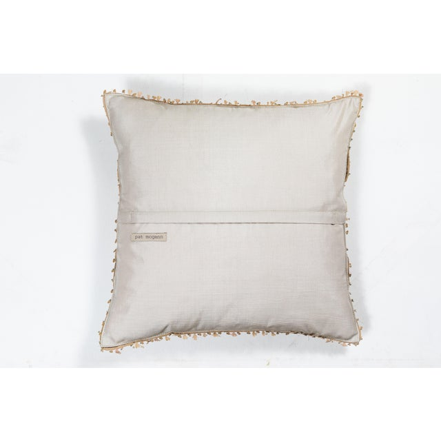 19th Century Embroidery Pillow For Sale In Los Angeles - Image 6 of 7