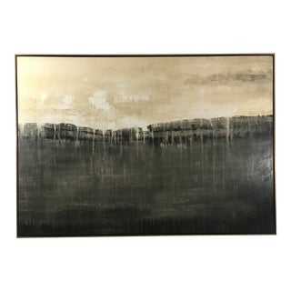Framed Extra Large Black and White Abstract For Sale