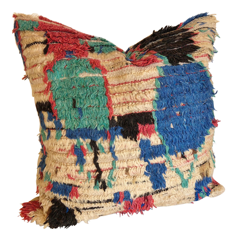 Vintage Moroccan Berber rug pillow