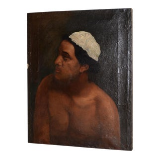 18th to 19th Century Young Man Portrait Oil Painting For Sale