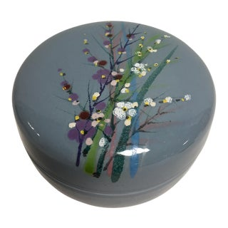 Hand Painted Italian Covered Jar For Sale