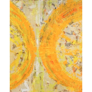 """""""Suns Meet"""" Contemporary Abstract Mixed-Media Painting by Bryan Boomershine For Sale"""