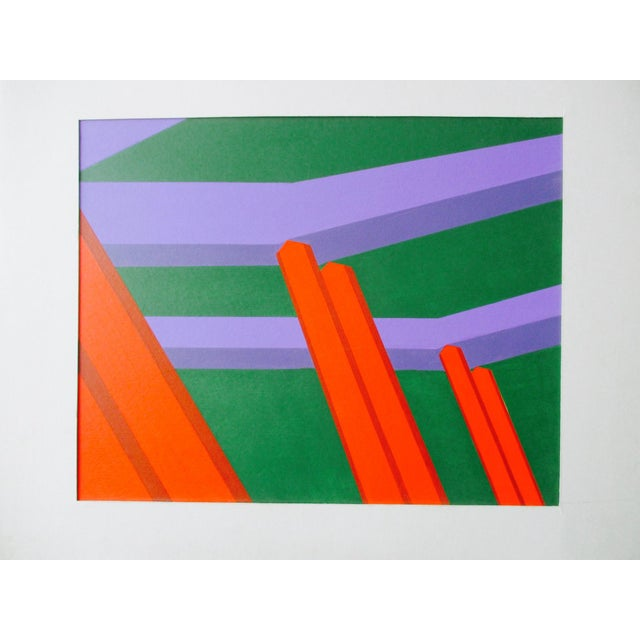 Abstract Geometric Acrylic Painting For Sale