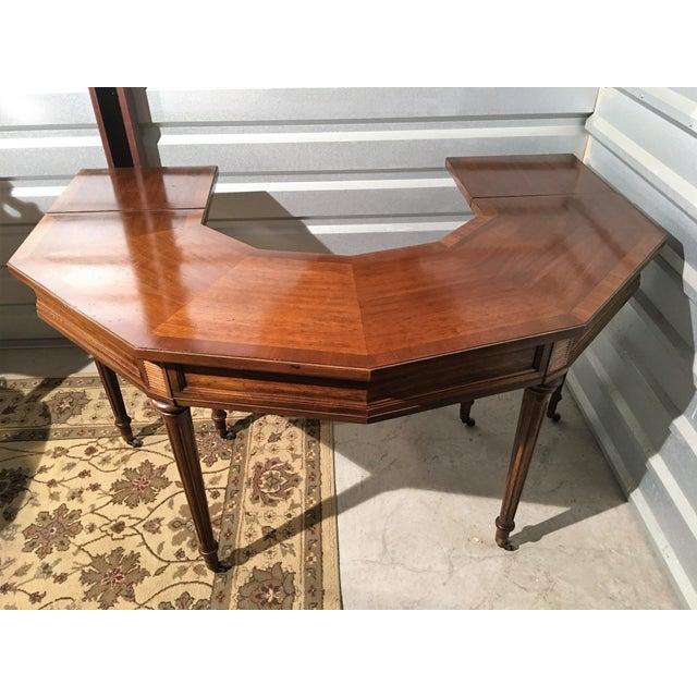 "Vintage Thomasville Drop-Leaf ""Horseshoe"" Desk - Image 9 of 10"