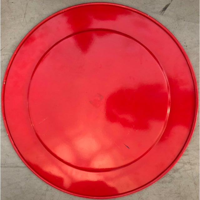 Large Painted Metal Tray For Sale - Image 4 of 5