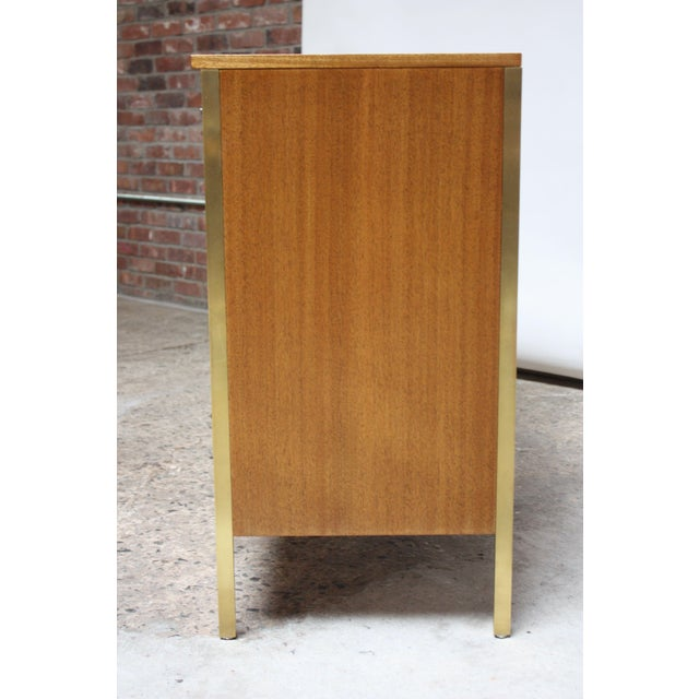 1950s Paul McCobb Mahogany and Brass 6000 Series Directional Cabinet For Sale - Image 5 of 13