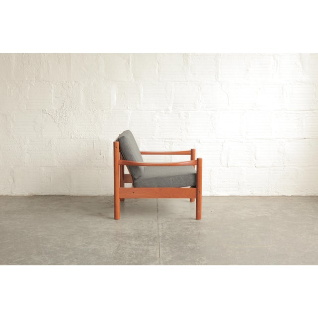 Mid 20th Century Vintage Mid Century Grey Lounge Chair For Sale - Image 5 of 7