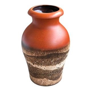 Vintage Scheurich West Germany Pottery Floor Vase For Sale