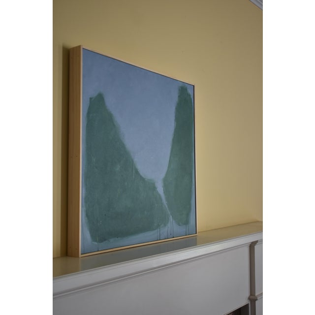 "Blue Stephen Remick ""Evening Descending"" Contemporary Abstract Painting For Sale - Image 8 of 12"