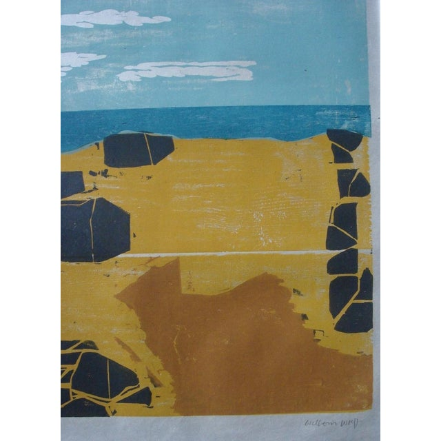 """Shore with Stones"" Woodblock by William Wolff - Image 3 of 3"
