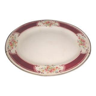 Vintage Mid Century Hoer Laughlin Porcelain Platter For Sale