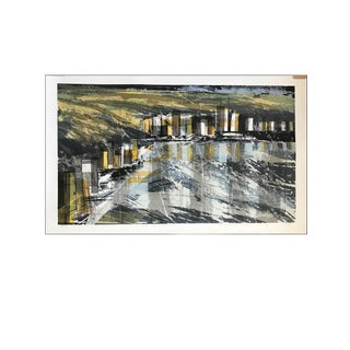Hand Signed 1960s Mid Century Howard Bradford Serigraph For Sale