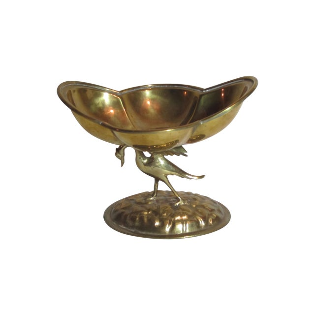 Solid Brass Bird Compote - Image 1 of 6