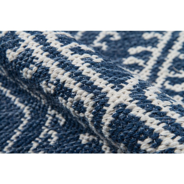 Erin Gates by Momeni Easton Pleasant Navy Indoor/Outdoor Hand Woven Area Rug - 7′6″ × 9′6″ For Sale - Image 4 of 7
