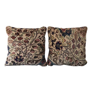 Vintage Turkish Rug Pillows - A Pair