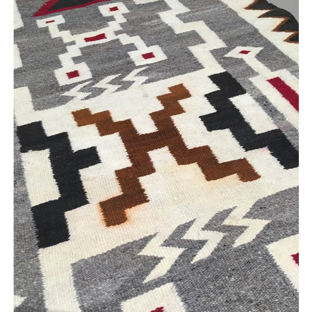 "Vintage Navajo Storm Pattern Rug - 2'8"" X 4'11"" For Sale - Image 4 of 6"