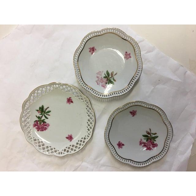 Cottage Bavaria Schumann Porcelain Floral Plates - Set of 3 For Sale - Image 3 of 9