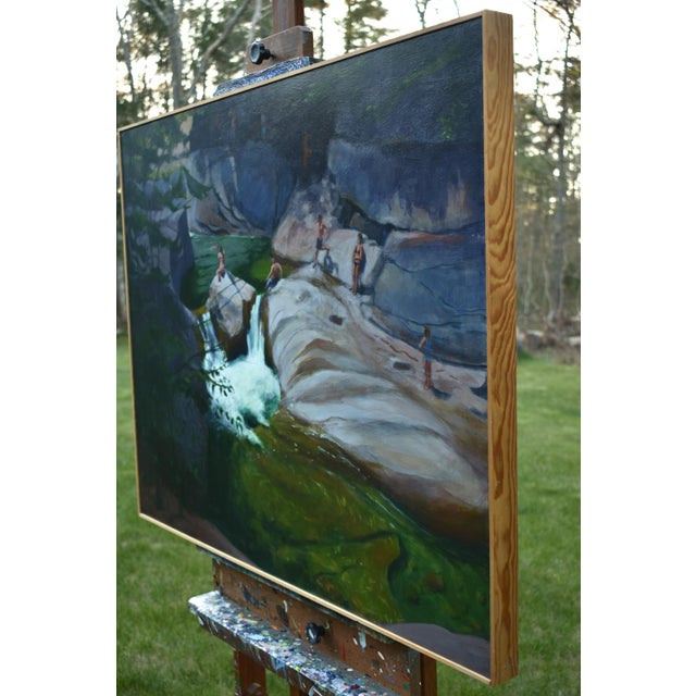 Upper Falls Swimming Hole in Vermont Contemporary Painting by Stephen Remick For Sale - Image 9 of 12