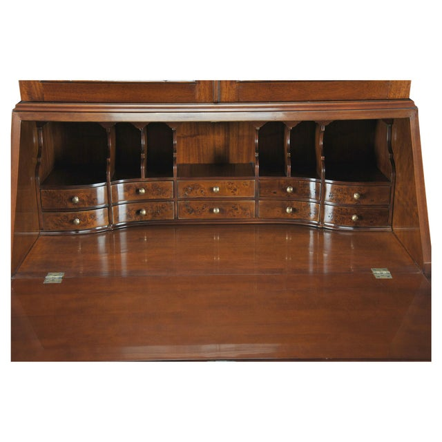 Traditional Burled Secretary Desk For Sale - Image 4 of 5