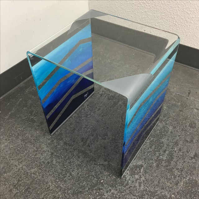 "Tony Sosa for Glassisimo ""Ocean Feel"" Side Table For Sale - Image 4 of 10"