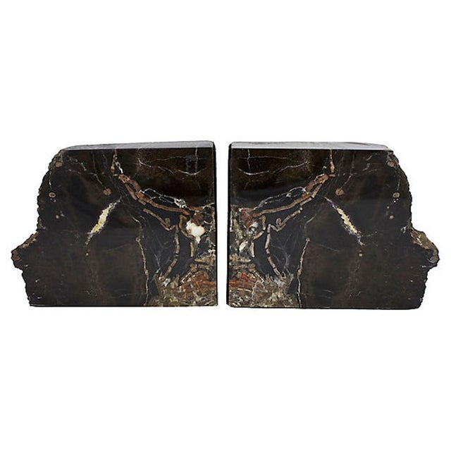 Vintage Petrified Wood Bookends For Sale - Image 10 of 10