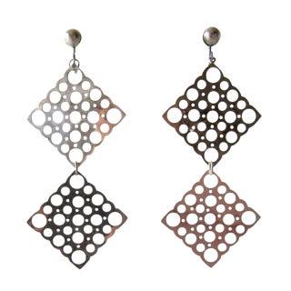 Lisa Vitali Sterling Silver Pitsi Dangling Earrings For Sale