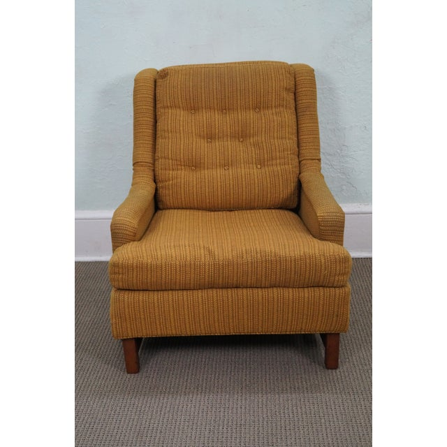 Mid-Century Walnut Frame Lounge Chair And Ottoman - Image 2 of 10