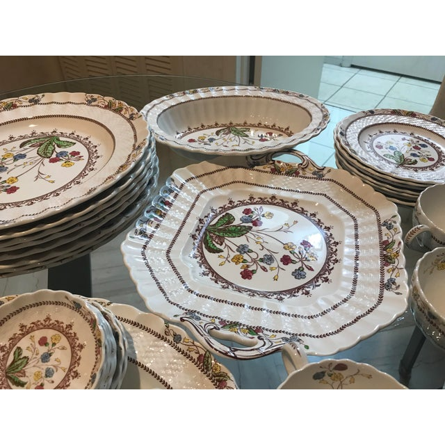 Ceramic 1940s Vintage Copeland Spode Cowslip China Set - 63 Pieces For Sale - Image 7 of 13