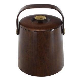 Mid Century American Walnut Danish Modern Style Ice Bucket For Sale